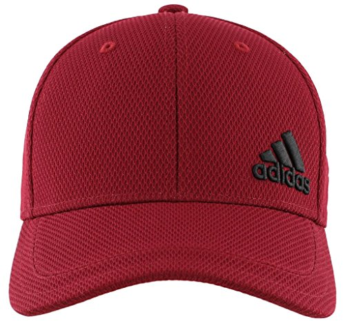 adidas Men's Release Stretch Fit Structured Cap, Collegiate Burgundy/Black, Large/X-Large (Stripe Hat Cap)