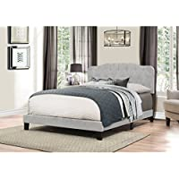 Platform Bed in One in Glacier Gray Fabric (King: 88 in. L x 80 in. W x 48 in. H)