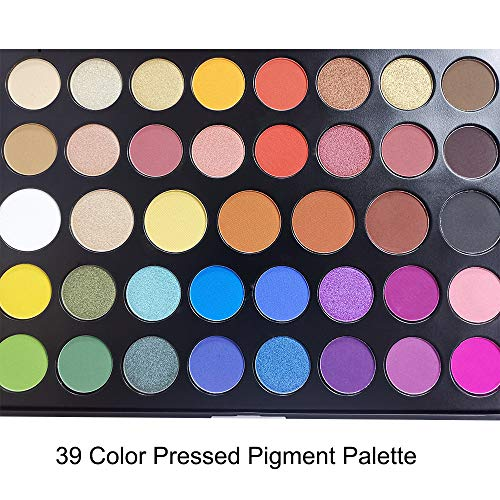 39 Color Pro Makeup Pallet, Pigmented Matte Shimmer Eyeshadow Palette Large Colorful Neutral Eye Shadow Palette Long Lasting Waterproof Makeup Pallet Holiday Eye Shadows by way of Everfavor