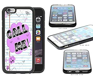 Call Me! Note With Stars And Hearts Rubber Silicone TPU Cell Phone Case Apple iPhone 6