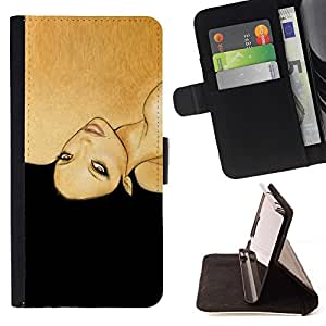 Momo Phone Case / Flip Funda de Cuero Case Cover - Black Woman Hair Fashion - Samsung Galaxy S4 IV I9500