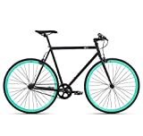 6KU Beach Bum Fixed Gear Bicycle, Black/Celeste,   58cm