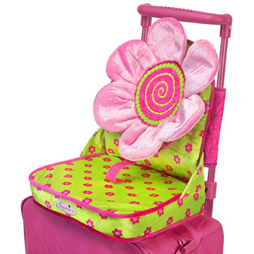 Doll Car Seat By Sophias In Pink Green Perfect For 18 Inch Dolls