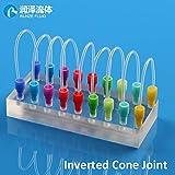 Maslin PTFE Teflon Tube Connector Plastic 1/4-28