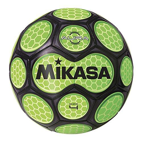 (Mikasa Soccer Ball, Size 4, Black/Neon Green)