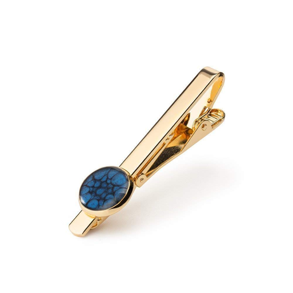 Pinza para Corbata Azul Oscuro tono Dorado para Baile de ...