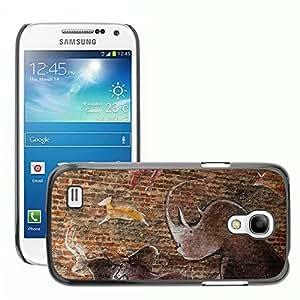 Etui Housse Coque de Protection Cover Rigide pour // M00108024 Imagen de pared estilo prehistórico // Samsung Galaxy S4 Mini i9190