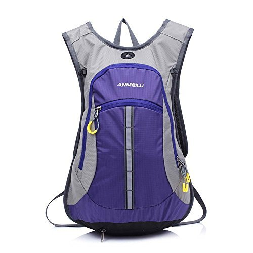 UPC 190268114844, ANMEILU 15L Waterproof Cycling Backpack Men Women Shoulder Outdoor Bike Riding Mountain Bicycle Travel Hiking Camping Running Water Bag Purple by ANMEILU