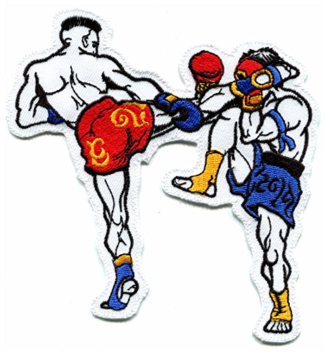 Muay Thai boxing fighters boxers martial arts kung fu embroidered applique iron-on patch new