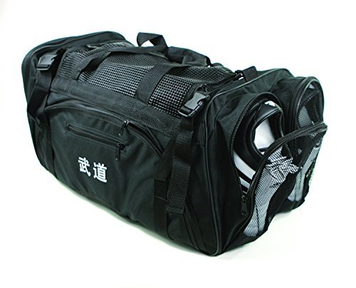 "MMA [GTE Zone] Taekwondo, Martial Arts, Karate, Sparring Gear Equipment Bags (13""x 27"" x 14"" (W/Mesh Top & Side), 125F)"