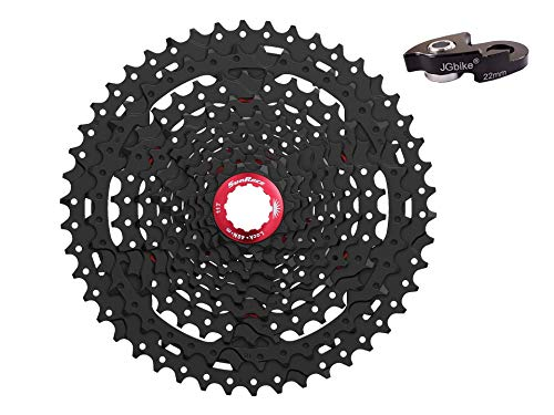 JGbike Sunrace 10 Speed Cassette 11-46T CSMX3 Black Wide Ratio MTB Cassette for Mountain Bike Including Extender for SRAM/Shimano mid or Long cage derailleur