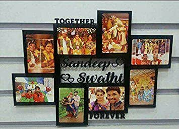 Buy Geet Creations Personalized Gifts Couple Wooden Name Collage