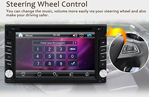 New Version ! 800MHZ CPU !!! GPS Navigation Car Radio 6.2 Inch Car DVD Player Touch Screen Stereo Bluetooth Autoradio In Dash Headunit Car Video Player by EinCar (Image #6)