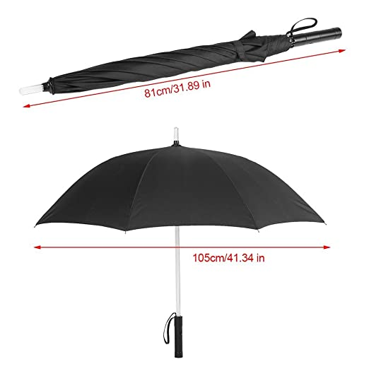 Amazon.com : LED Lighted Umbrella 7 Colors Changing on Shaft Flash Light Golf Umbrellas for Night Walking Protection Battery Powered(Black)  : Sports & ...