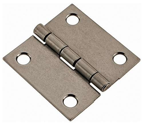 2'' Long x 2'' Wide x 0.062'' Thick, 302/304 Stainless Steel Commercial Hinge, 4 Holes, 0.12'' Pin Diam by Made in USA