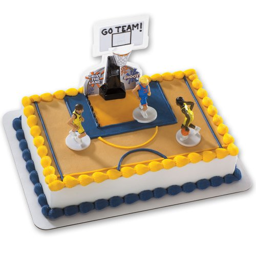 Basketball All Net DecoSet Cake Decoration - Boys (Birthday Cake For 15 Year Old Boy)