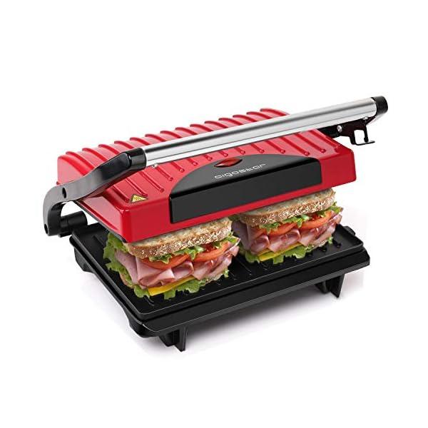 Aigostar Warme 30HHH - Panini Maker/Griglia, Pressa a sandwich, Griglia elettrica, 700 Watt, Fredda al tocco… 1