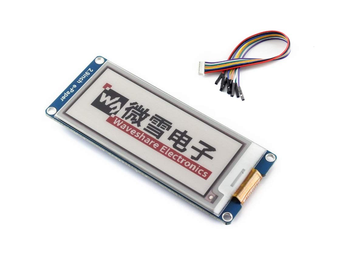 Three Color 2.9inch E-Paper Display Module (B) 296x128 Resolution 3.3V/5V E-Ink Electronic Paper Screen Red Black White Tri-Color for Raspberry Pi/Arduino/STM32 SPI Interface, Support Full Refresh