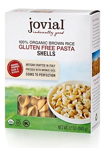 Jovial 100% Organic Gluten Free Brown Rice Pasta, Shells, 12 oz.