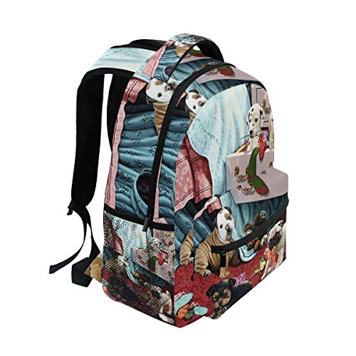 22fa9feb50da Amazon.com: Backpack Dogs Mischief Makers Lightweight Waterproof ...