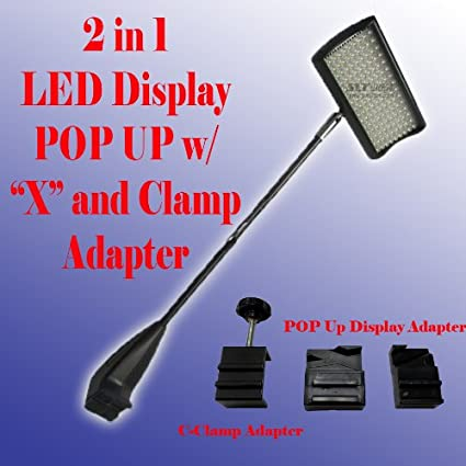 DSM ˜ 2 in 1 LED (156) Diplsay Light White (6000k) for Trade Show Pop up Tension Booth Podium and Display Panel w/ C-type Adapter Super Bright Tension Las ...