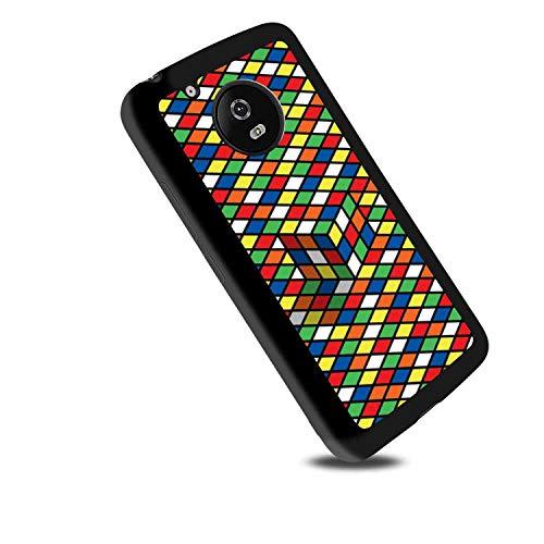Colorful Rubik Cube Soft TPU Case Fits for Moto G6 Plus [5.93-Inch]