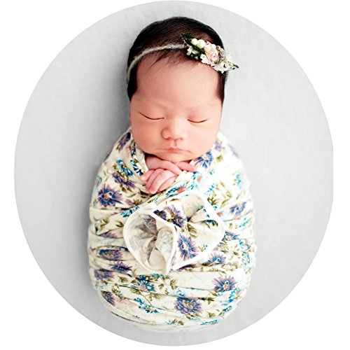 Newborn Photo Shoot Props Baby Photography Blanket Infant Photos Outfits Floral Wrap (Floral B)