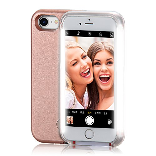 iPhone 6 Case, COSLIGHT LED Light Up Selfie Phone Case Luminous Protective Cover for Apple iPhone 6 6s (4.7'') - Rose Gold by Coslight