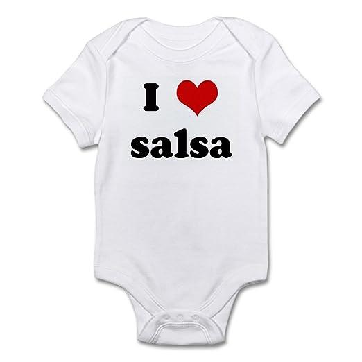 b642d63e7 Amazon.com: CafePress I Love Salsa Infant Bodysuit Baby Bodysuit: Clothing