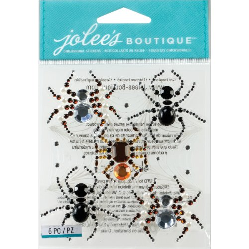 Jolee's Boutique 50-21553 Dimensional Stickers, Beaded Spiders