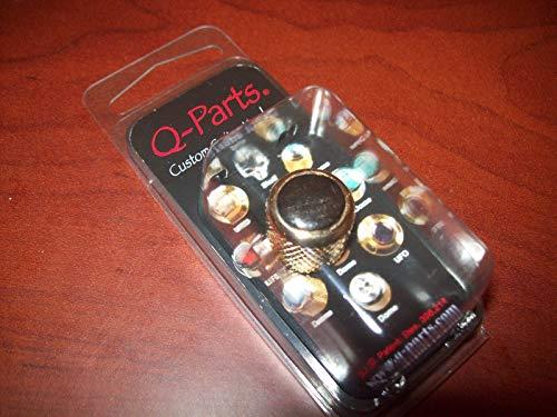 Q-Parts Mini Dome Knob, EBONY WOOD INLAY ON GOLD