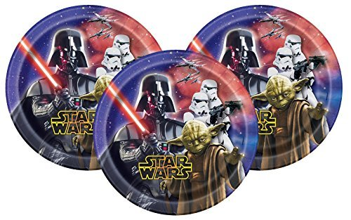 Star Wars Disney Dessert Paper Plates 7'' (24 Count)