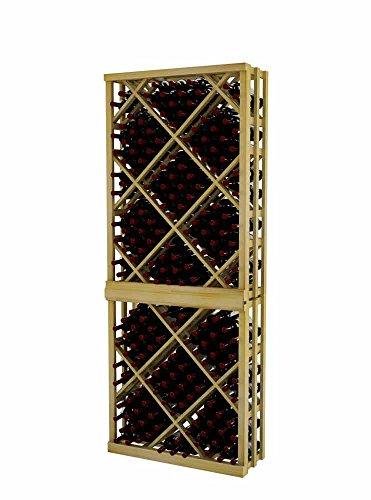 Vintner Series Wine Rack - Open Diamond Bin - 7 Ft - Pine with Light Stain