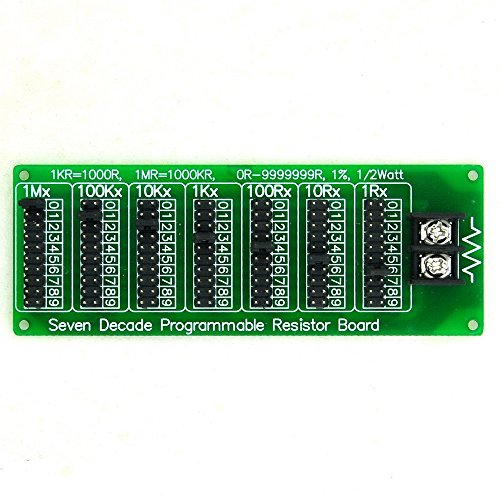 Electronics-Salon 1R - 9999999R Seven Decade Programmable Resistor Board, Step 1R, 1%, 1/2 ()