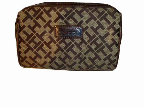 Tommy Hilfiger Women's Cosmetic/Make-up/Toiletry Bag, Small, Chocolate