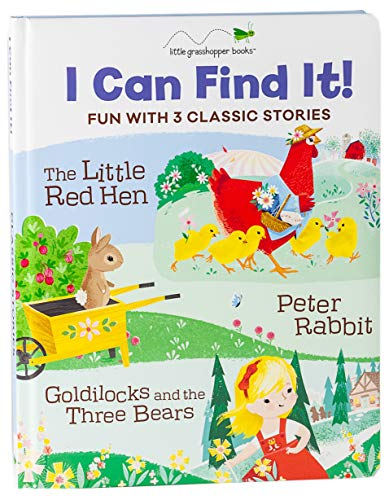 I Can Find It! Fun with 3 Classic Stories: The Little Red Hen, Peter Rabbit, Goldilocks and the Three Bears (Goldilocks And The Three Bears Activities For Nursery)