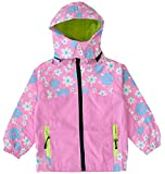 KISBINI Big Girls Windproof Zipper Jacket Hooded Windbreaker Raincoats Pink 6T