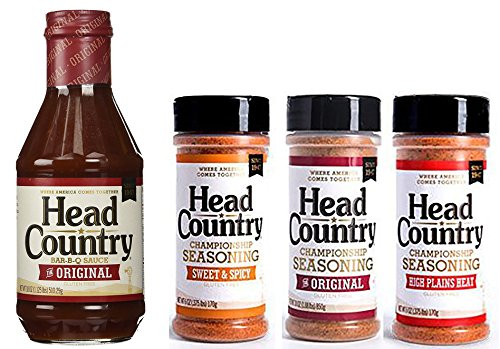 Head Country BBQ KIT: BBQ Sauce plus Original, Sweet & Spicy