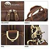 "Augus Leather 16"" Laptop Briefcase for Men Shoulder"
