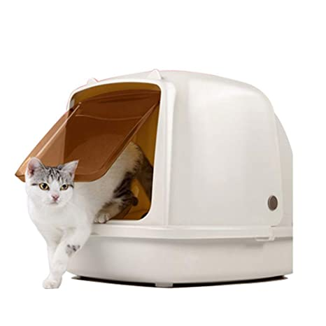 BYCWS Caja de Arena para Gatos con Capucha, Inodoro Totalmente Cerrado para Gatos,25x18x19in