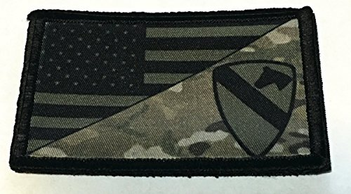 Subdued US Army 1st Cavalry Division USA Flag Morale Patch T