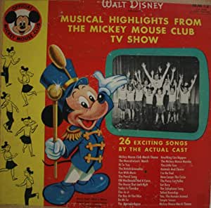 Walt Disney Presents Musical Highlights From the Mickey Mouse Club TV Show