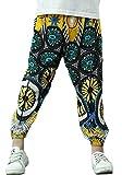 JuJuTa Girls Ankle Length Harem Striped Comfortable Print Loose Fit Soft Pant 2 5/6