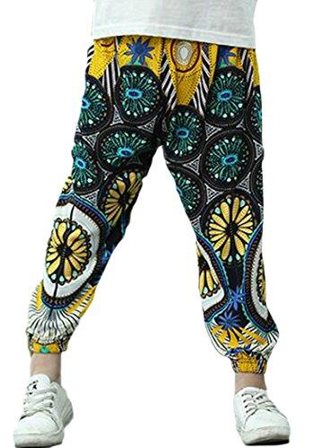 JuJuTa Girls Ankle Length Harem Striped Comfortable Print Loose Fit Soft Pant 2 5/6 by JuJuTa (Image #1)