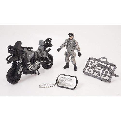 True Heroes Sentinel 1 Action Figure and Vehicle - Wolf - Motorbike