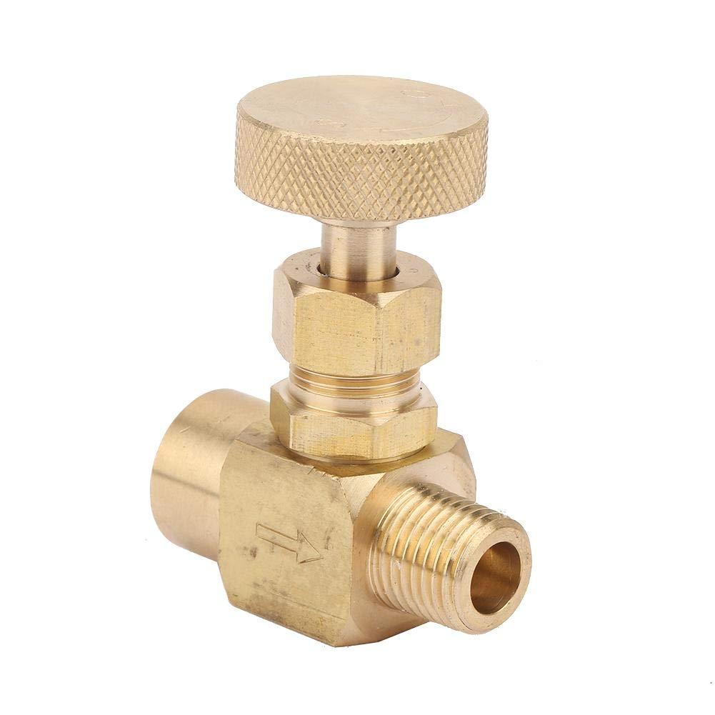 Brass Needle Valve Industrial High Pressure Brass Instrument Needle Control Valve 1//4 NPT 60/° Thread Angle #01