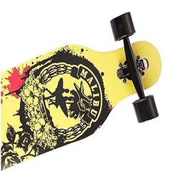 Aniseed Fractal Complete Skateboard Longboard 9.4 X 30.9-Inch Orange Gold Pattern : Sports & Outdoors