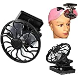 Clip-on Solar Sun Power Energy Panel Cooling Cell Fan for Outdoor Camping ( Black )