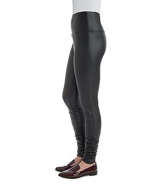 ba887d812dd71f Amazon.com: Lysse Leggings Karly Ruched Leg Vegan Leather Legging (1950):  Clothing