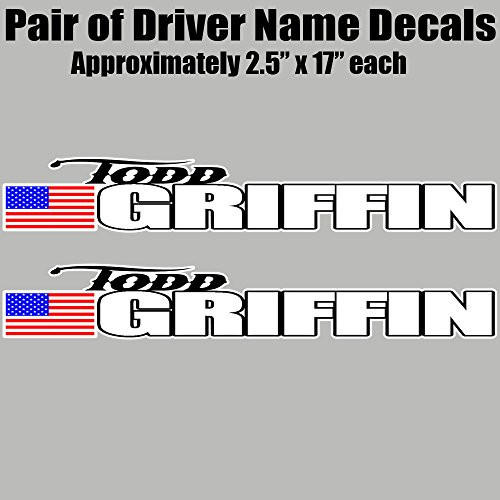 (Racecar Driver Name Vinyl Decal Set - Late Model, Rallycross Rally Car, Dirt Car)